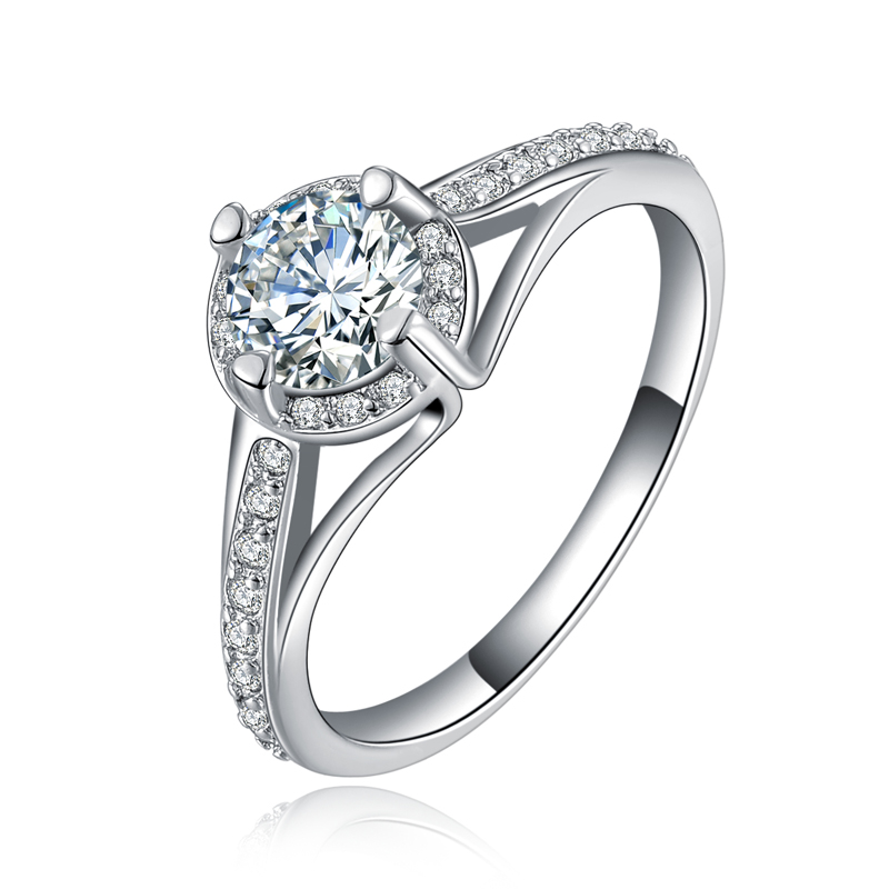 JEXXI CZ Engagement Ring Fashion 925 Sterling Silver Rings For Women Fashion Bridal Female Ring Jewelry Accessory