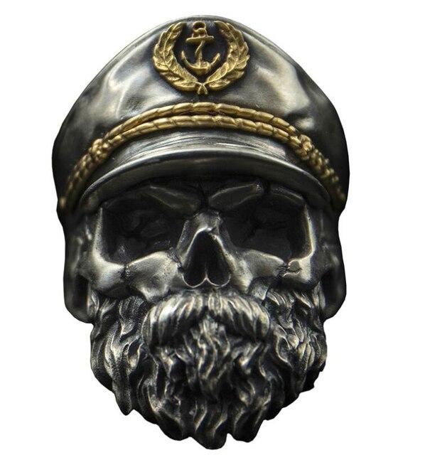 Chevalière tête de mort colonel