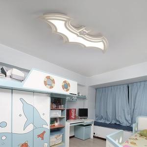 Image 3 - Batman led ceiling lights for kids room Bedroom balcony home Dec AC85 265V acrylic modern led ceiling lamp for childroom room