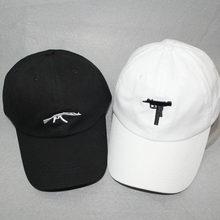 e8ae0ef62f6 Gun Baseball Caps Fashion 2018 Snapback Hip Hop Dad Hat Cap Women Men Brand  Sports Bones
