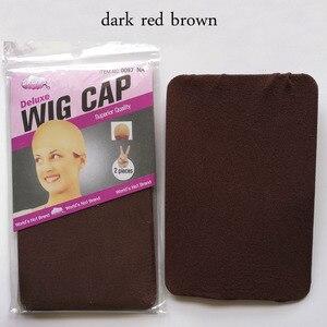 Image 3 - Peluca de lujo color Beige para mujer, paquete de Peluca de lujo de 36 Uds., elástica, elástica, para tejer, peluca de redecilla, tamaño libre