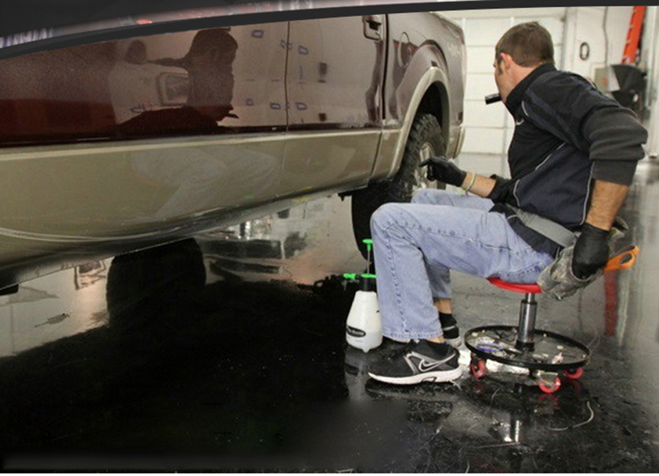Image 5 - Красное Пневматическое сиденье для Потрошителя, регулируемое по высоте соковыжималка атмосферный поворотный стул с колесами MO 603-in Наклейки на автомобиль from Автомобили и мотоциклы
