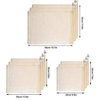 3pcs Beeswax Wrap Cloth + 3Pcs Degradable Organic Cotton Mesh Storage Bag Eco Friendly Reusable Food Fresh Keeping Sets 3