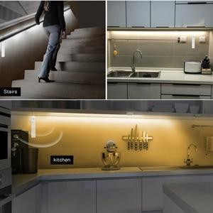 Image 5 - LED Cabinet Light Motion Sensor 1M 2M 3M Under Bed Stair Wardrobe Tape 5V USB LED Strip Closet Kitchen Night Light Lamp