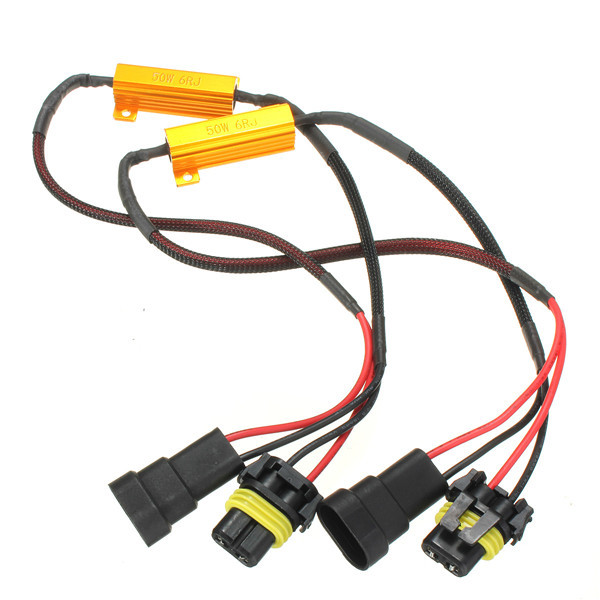 2Pcs Excellent Quality H11 50W Car LED Turn Singal Load Resistor Canbus Error Free for BMW for Audi Wiring Canceller Decoder бампер excellent car 13 14 rav4 4s