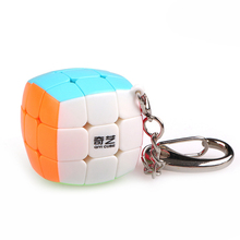 Babelemi Super Mini Cambered Surface 3x3x3 Magic Cube with Key Ring Speed Puzzle Educational Toys for Kids Child
