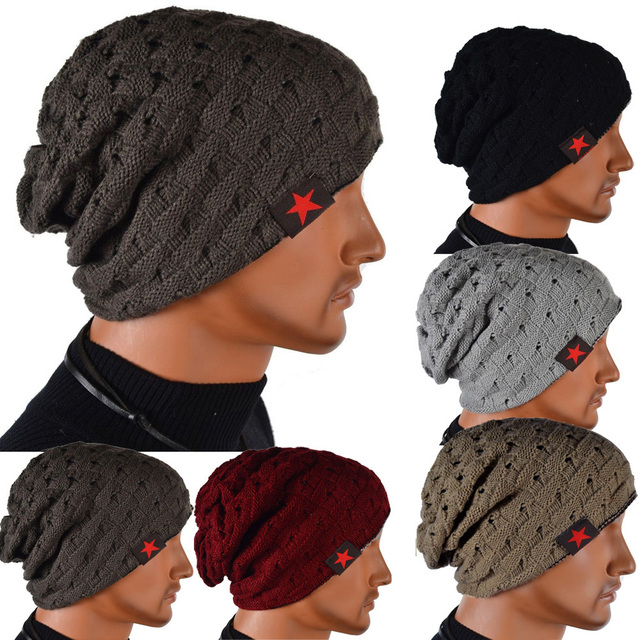 1fe321b77cfbe Men's Knit Winter Hat Beanie Reversible Skull Chunky Baggy Warm Cap Free  Shipping