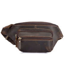 Crazy horse purse, men's leather bag, waist bag, vintage handmade man bag, leather purse, a hair Y9415