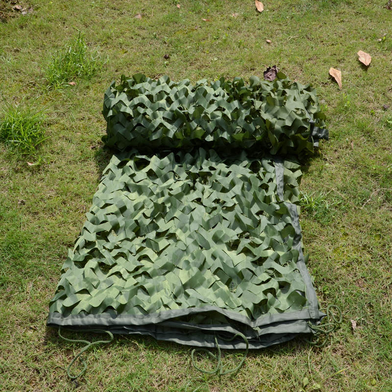 WELEAD 3.5x7m Reinforced Military Camouflage Net Green for Pergola Outdoor Awning Mesh Hide Shade Sun Shelter 3x7 3*7 4x7 4*7 - 2
