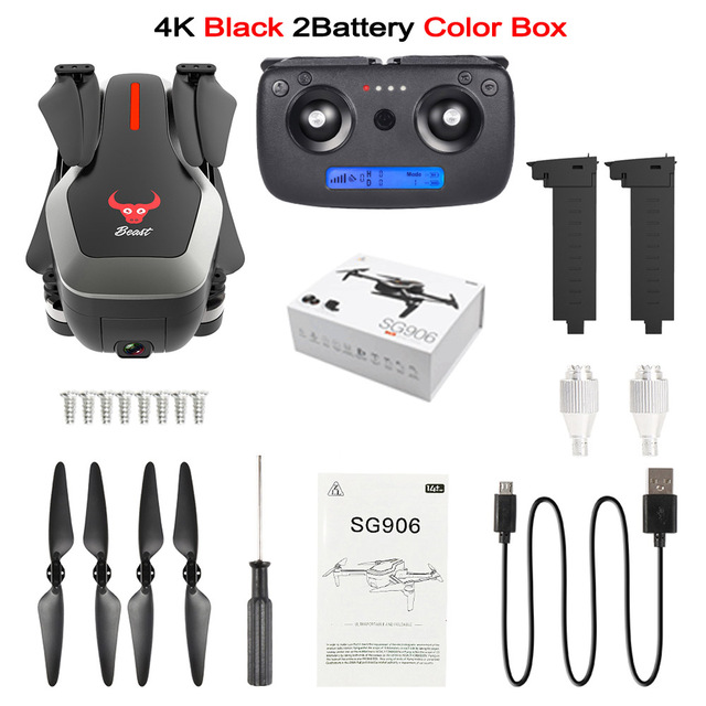 Dual GPS Drone 4K HD Dual Camera Quadcopter Brushless Motor Drone GPS Smart Follow 5G WIFI FPV Rc Helicopter Profissional Drone