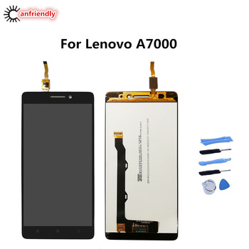 For Lenovo A7000 LCD Display Touch Screen Replacment Digitizer with frame Assembly Repair Panel Glass For Lenovo A7000 A 7000