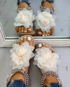 Image 4 - 2020 Plus Big large size 43 leisure beach vacation comfortable flat Summer women Shoes Sandals woman flip flops shoes woman
