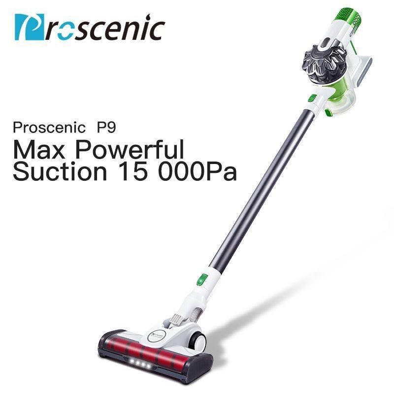 Proscenic P9 High Power Vacuum Cleaner Led Light Portable Handheld Cordless Stick Vacuum 3 in 1