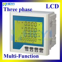 LCD Three phase multifunction meter 96*96 Mulit meter for amp voltage frequency power energy measurement digital panel meter