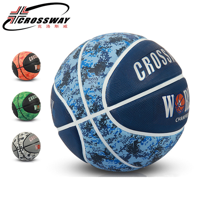 e4ba577f7f0 CROSSWAY Wearable Rubber Basketball Ball Official Size 7 Basketball Sports  Competition Training Indoor Outdoor High elasticity