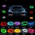 Auto Atmósfera Luz 2 M 12 V Del Coche Cable de luz Fría de La Lámpara de Neón decoración de accesorios para suzuki grand vitara swift sx4 kizashi reno ciaz