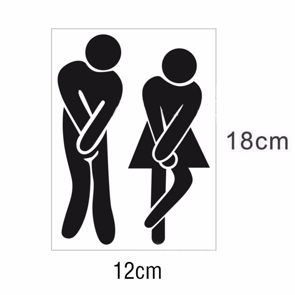 toilet entrance sign decal vinyl sticker for shop office home cafe