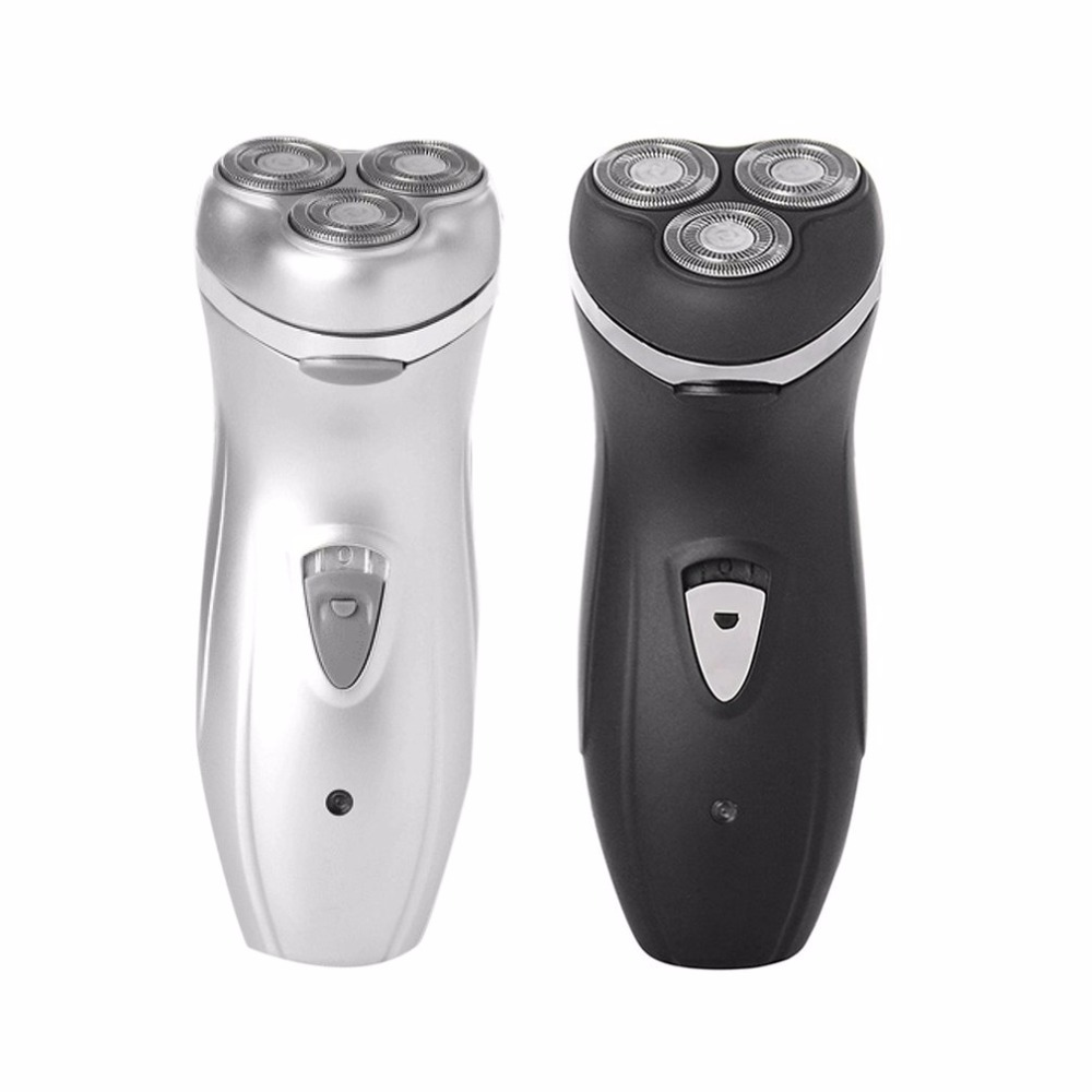 Rotating 3 Blades Electric Shaver Rechargeable Automatic Grinding Men Razor With Charging Indicator Barbeador Shaving Machine
