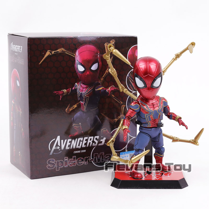 egg attack the amazing spider man 2 spiderman eaa 001 pvc action figure collectible model doll toy 17cm kt3634 EAA-060 Avengers Infinity War Iron Spider Egg Attack Spiderman Action Figure Movable Model Collection Toy