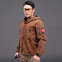 남성 야외 소프트 쉘 방풍 방수 하이킹 재킷 열 스포츠 캠핑 재킷 xs ~ xxxl
