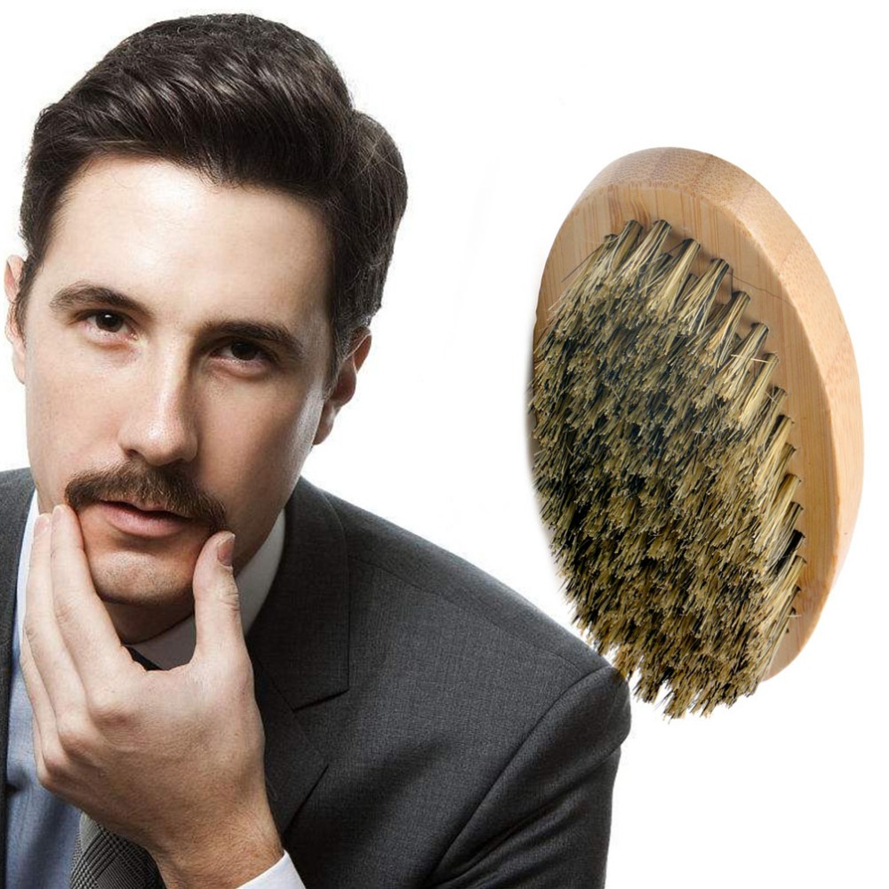 PRETTYSEE Beard Comb Shaper Shaving Brush Hair Styling Wooden Selling Comb Beard Shaping Tool Natural Boar Bristle Hair Brush anti static hairbrush massage comb hair scalp paddle brush natural boar bristle beech wooden handle hair brush styling tool