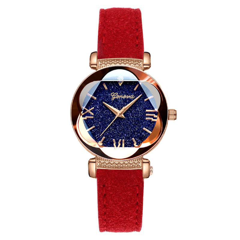 New 2019 Fashion Starry Sky Watch For Women Luxury Quartz Leather Casual Ladies Watch Roman Numerals Gift Clock relogio feminino in Women 39 s Watches from Watches