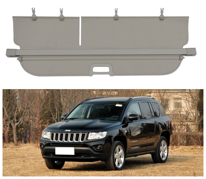 For <font><b>Jeep</b></font> <font><b>Compass</b></font> 2012 2013 <font><b>2014</b></font> 2015 2016 Rear Trunk Cargo Cover Security Shield Screen shade High Qualit Car Accessories image
