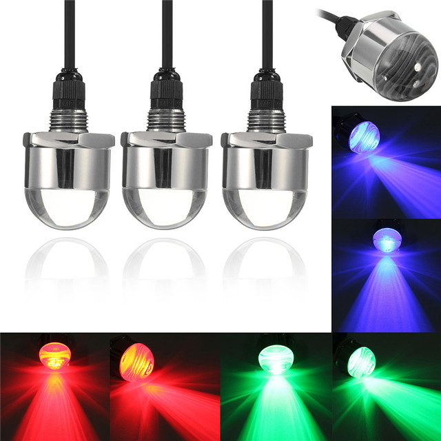 12v Led Underwater Boat Lights 9w Waterproof Ip68 6 Yacht Drain Plug Light