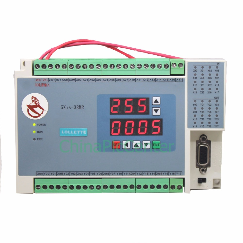 FX1S GX1S 32MR digital display 16 input 16 relays output controller Analog quantity 4AD 2DA Analog plc RTC (real time clock) plc controller 20mr 12 input 8 output 4ad 2da compatible for fx2n plc 422