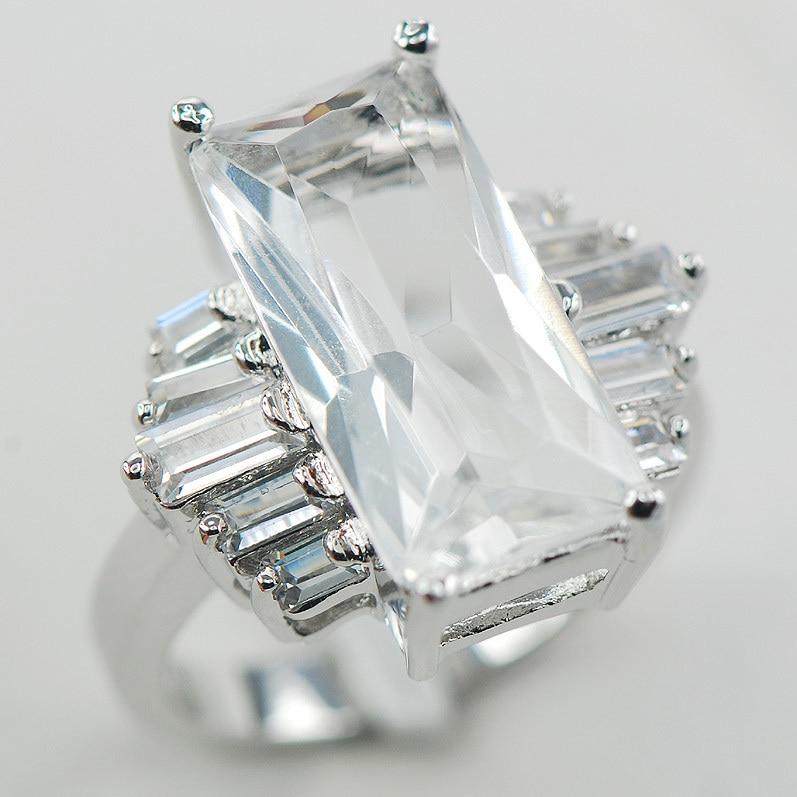 925 plata encanto de la Bola Bola Ajustable Anillo Colgante Cristal de Topacio Wrap