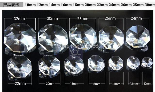 Kronleuchter Mit Glasperlen ~ Stücke mm achteck glasperlen in zwei löcher hochzeit