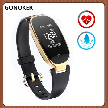Women Smartwatch Heart Rate Monitor IP67 Waterproof Smart Bracelet with Sleep Monitor Pedometer Calorie for Android and iOS