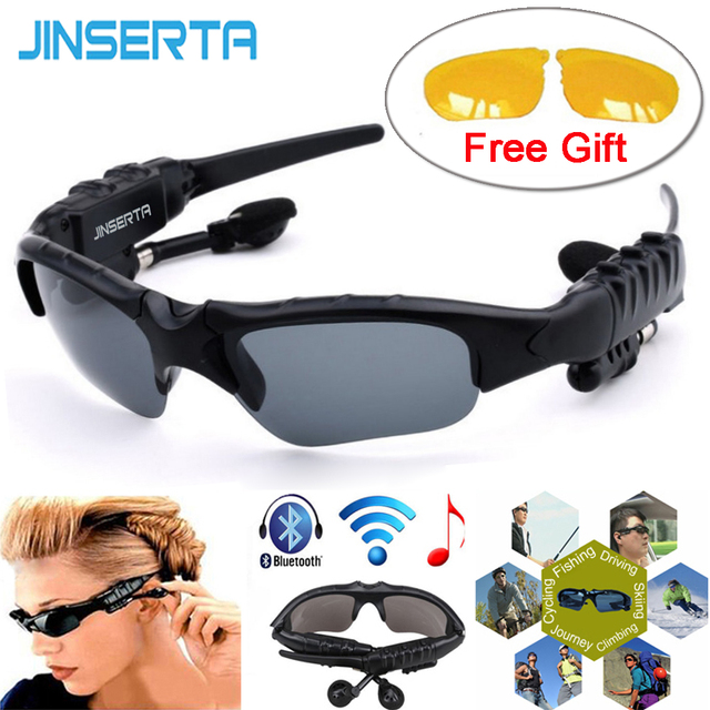 14c70c730c3f JINSERTA Sports Stereo Wireless Bluetooth Headset Telephone Polarized Driving  Sunglasses mp3 Riding Eyes Glasses