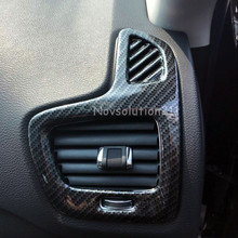2 Pieces ABS Car styling Inner Imitation Carbon Fiber Side Air Conditioner Vent Outlet Cover Trim
