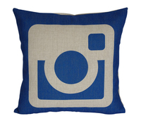 Instagram Pillow Cover Instagram Pillow Case Social Media Logo Instagram Throw Pillow Cover Cushion Cover Pillowcase