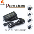 1Pcs 5A 60W AC 110V - 240V to DC 12V light Transformers Adapter Converter Switch Power Supply for 5050 3528 SMD LED Strip light