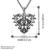 Collar Antiguo de Color Plata de Acero inoxidable Hombres de Las Mujeres de Moda Del Corazón Del Hueco Colgante Collar de Cadena de Joyería Para El Regalo de Los Amantes