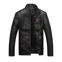 Bolubao New Men Leather Jacket Fashion Autumn Motorcycle PU Leather Male Winter Jackets Coat Brand Clothing