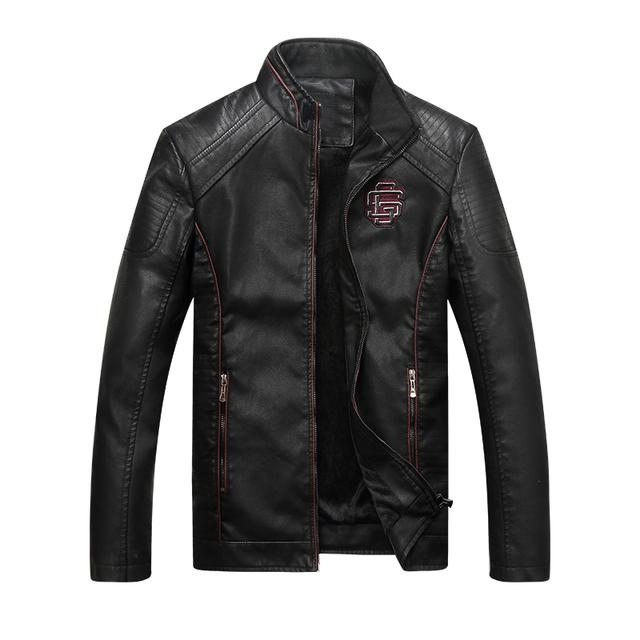 Leather Male Winter Jacket