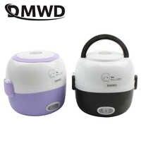 DMWD MINI cuiseur à riz isolation chauffage boîte à déjeuner électrique 2 couches Portable vapeur multifonction automatique récipient de nourriture ue