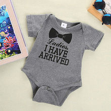 Newborn Rompers 2017 Cute Toddler Baby Girl Boy Bow Jumpers Rompers Playsuit Outfits Clothes 0-12M