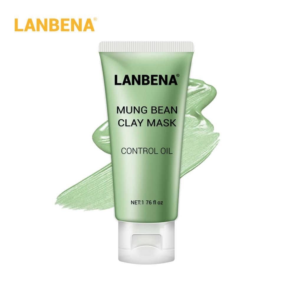 LANBENA الطين الوجه قناع + الخيزران الفحم + توت + روز التنظيف العميق إزالة الشحوم تنكمش المسام مغذية العناية بالبشرة