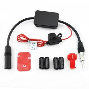 Image 4 - Amplificador de sinal de rádio do automóvel do carro da antena 12 v antena aérea do carro da antena de fm/am