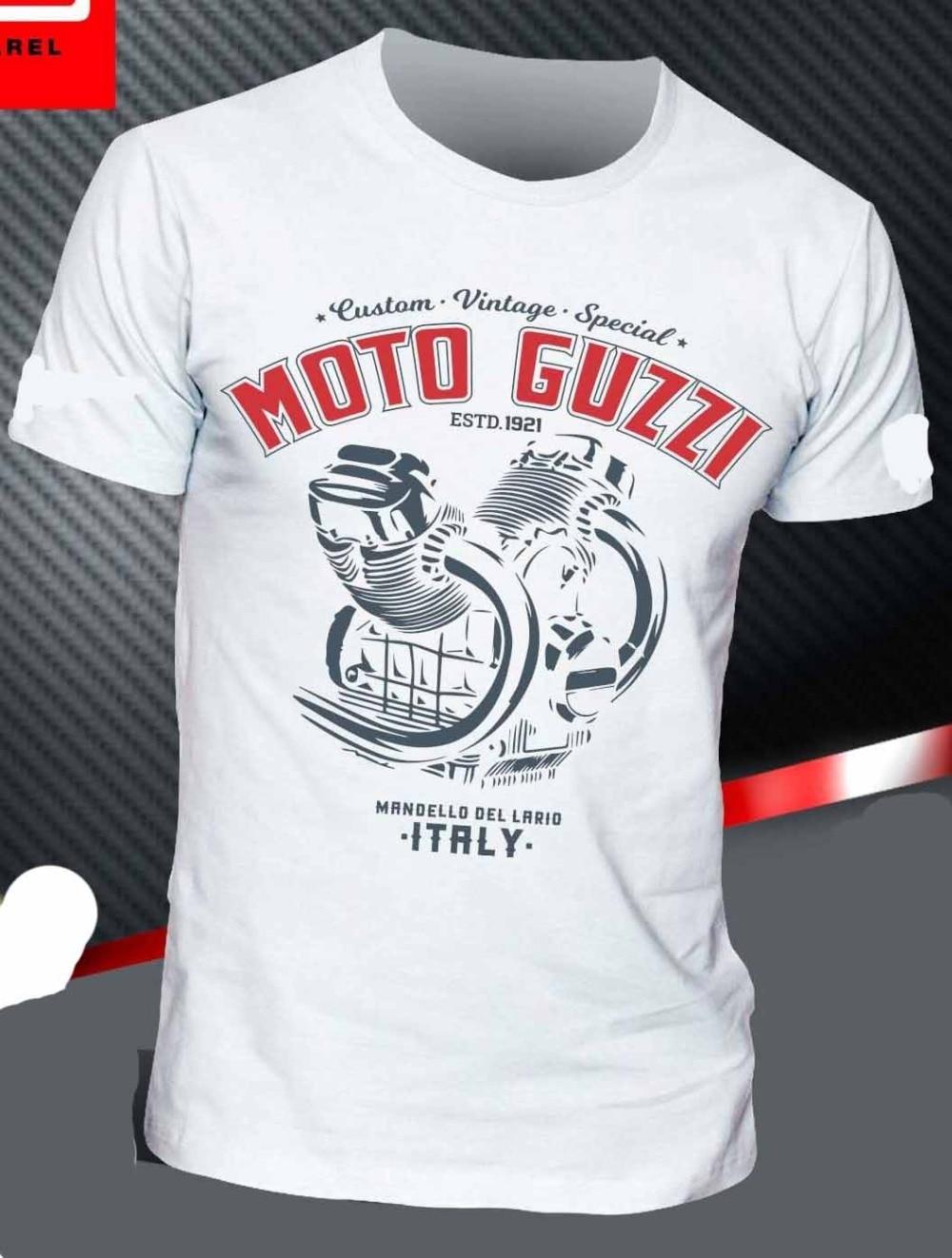 New Fashion T Shirt Graphic Letter  T-Shirt GUZZI AQUILA V ENGINE STELVIO GRISO CALIFORNIA NEVADA V7 SPECIAL Funny O Neck T Shir