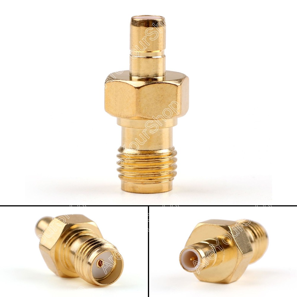 Areyourshop Sale 10 Pc Adapter SMA Female Jack To SMB Male Plug RF Connector Straight Gold Plating 1pc adapter n plug male nickel plating to sma female gold plating jack rf connector straight