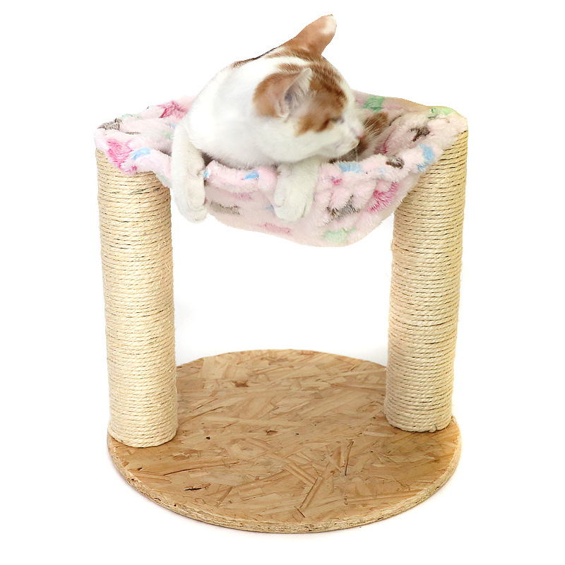 Apaulapet 3030cm Sisal Cat Tree Scratching Post Soft Plush With
