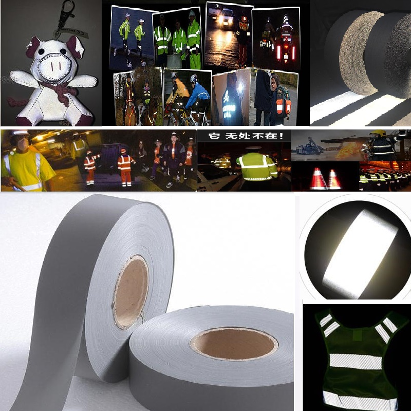 5M Length T/C Fabric Reflective Safety Tape Reflective Material Warning Strip Garment Accessories Sewn On The Clothing