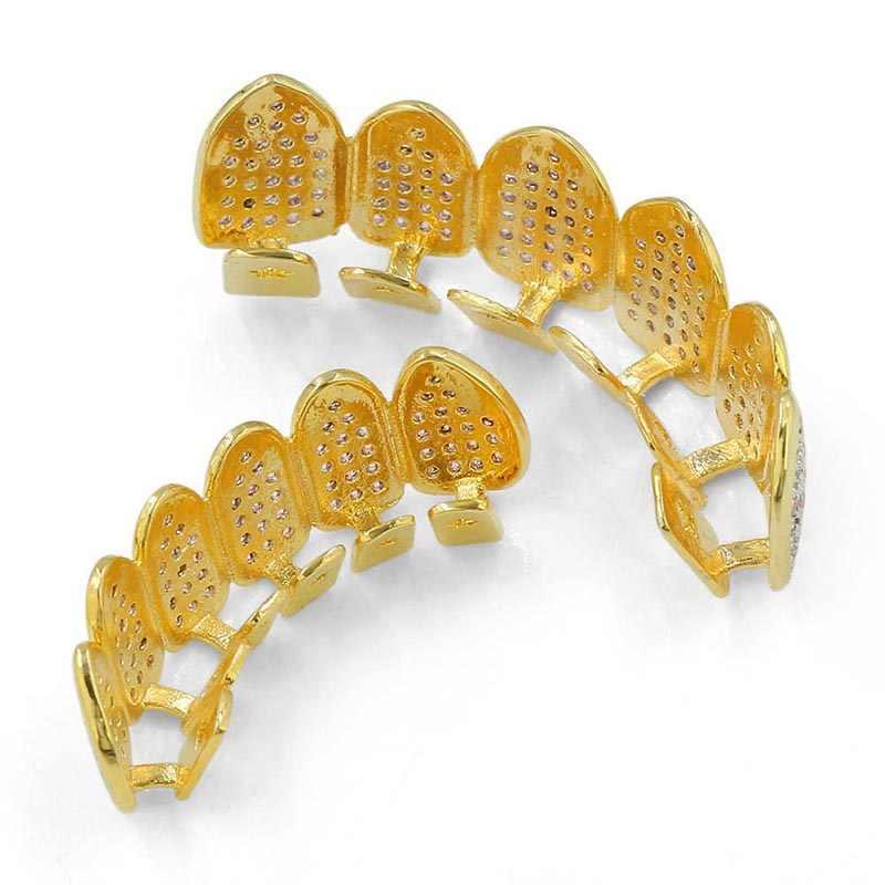 Missfox Grillz хип-хоп Макросъемка Розовый Cz леденец Grillz с литьевой планкой входит 18k золото Grillz для зубов мужской ювелирный набор