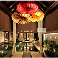 New Chinese style fabric conch ceiling lamp bedroom living room originality romance warmth classical Southeast Asia Chandelier|style lamp|original chandelier|lamp living -