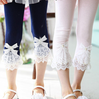 2016 Summer Children Leggings For Girls Kids Leggings Girls Lace knee Pants Girl Pants Kids Baby Trousers 2-8Y